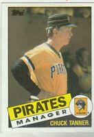 FREE SHIPPING-MINT-1985 Topps #268 Chuck Tanner Pirates PLUS BONUS CARDS