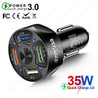 4 USB Port Fast Car Charger Adapter for iPhone Samsung Android Cell Phone Tablet