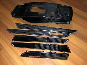 AUDI A6 S6 RS6 C6  INTERIOR CARBON FIBER TRIM SET DOOR CONSOLE OEM