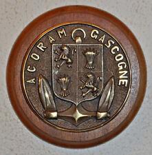 ACORAM Gascogne ward room wall plaque crest
