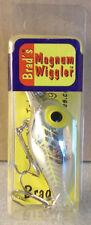 Brad's Magnum Wiggler Metallic Silver with Chartreuse Herringbone W-MW-026