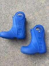 Crocs Kids Girls Boys Blue Rain Boots Size C 9