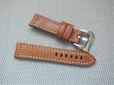 Genuine Leather Heavy Duty Watch Strap 22mm Tan Brown