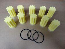10x Stück Heizölfilter Ölfilter Gelb Stern Einsatz + 3x O-Ring Oventrop Afriso