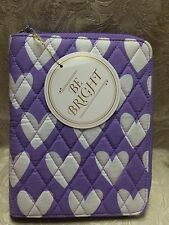 PB Teen  ~ BE BRIGHT Quilted Sleepover Beauty Travel Makeup Bag & BRUSHES ~ NWT