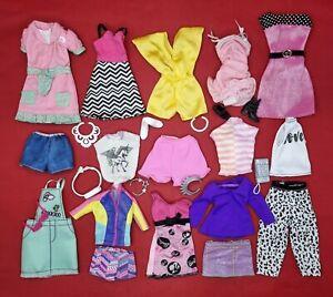 Barbie Dresses Clothes Bundle Fashionista & Original Shoes Tops Bags