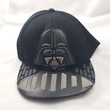new concept c0677 094dd Star Wars Black Faux Leather Darth Vader Stormtrooper Flat Bill Snapback  Hat Cap