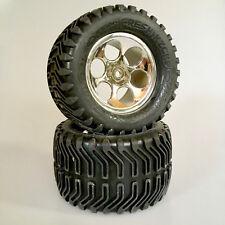 1:8 Monster Tyres Meathook with Rim Chrome for Traxxas Hpi Fresh Kicks Team Ori