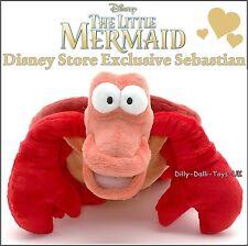 NUOVO Disney Store Sebastian da The Little Mermaid Peluche giocattolo morbido nuovo con etichette