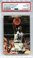 1993-94 Stadium Club Members Only Parallel 100 Shaquille O'Neal PSA 10 GEM MT