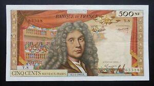"""500 Nouveaux Francs  """"Molière"""" - 5 janvier 1961  (Y.8)"""
