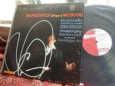 STRAVINSKY: Psalms Symphony MUSSORGSKY: Melodies > Markevitch / Phlips mono LP