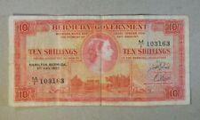 1957 Bermuda 10 Shillings