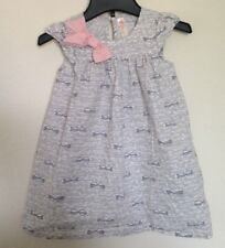 Cherokee (Target) Gray White Pink Eye Glasses Print Dress Toddler Girls Size 5T