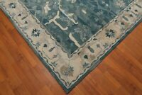 Old Hand Made Blue Traditional Persian Oriental Style Wool Area Revo Rug