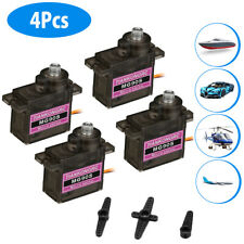 4Pcs MG90S Digital Micro Servo Motor Metal Gear For RC Helicopter Airplane USA