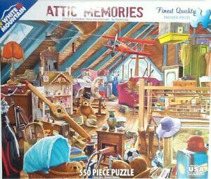 "White Mountain ATTIC MEMORIES 1245 Jigsaw Puzzle 550 pce 18x24"" Steve Crisp 2016"