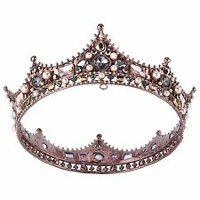 2.2''Royal King Crown Vintage Bridal Rhinestone Tiaras Headband Pageant Crown