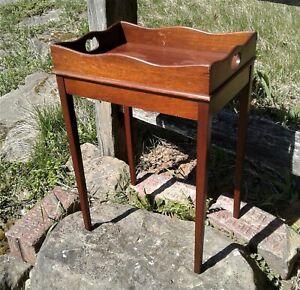 Antique Salesman Sample Mahogany Butler Style Tea Stand 1930s