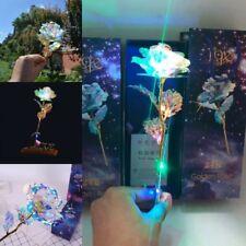 Romantic Forever Love Rose LED 24K Gold Plated Flowers Valentine's Day Birthday