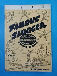 1945 LOUISVILLE FAMOUS SLUGGER BASEBALL YEARBOOK.