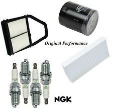 Tune Up Kit Air Cabin Oil Filters Spark Plugs For HONDA CIVIC L4 1.7L 2001-2005