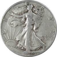 1946-D 50c Liberty Walking Silver Half Dollar Average Circulated
