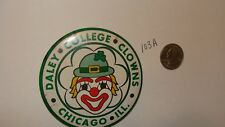 VINTAGE 1970's Clown DALEY College CLOWNS CHICAGO IL SCHOOL PINBACK PIN BUTTON