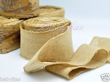 "2.5"" Wide Natural Burlap Fabric Jute Rustic Wedding Vintage Roll 10 Yard Length"