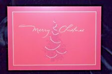 "Hallmark Red ""Merry Christmas"" Card 18 Cards And Envelopes Free Shipping"