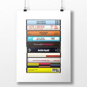 New Order Poster: Cassette Print, New Order Albums, Fan, Gift, Art,