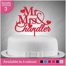 Bride Groom Mr Mrs Personalised Wedding Cake Topper Table Decoration Keepsake