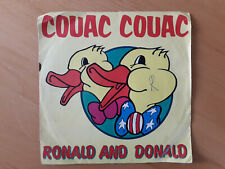 Disco vinile 45 giri  RONALD AND DONALD Couac Couac / Pussycat