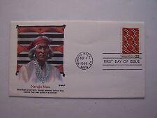 """Navajo Art"" Navajo Man Stamp First Day Cover 1986 Window Rock Az"