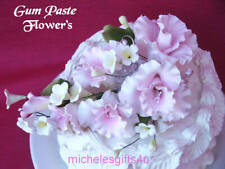 Large Sugar Gum Paste Pink Lily Orchid Cake Flowers Free Shipping