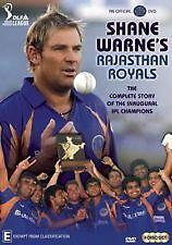 SHANE WARNE'S RAJASTHAN ROYALS (DVD, 4- DISC SET) R-4, BRAND NEW , FREE SHIPPING