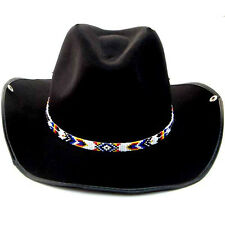 NEW HANDMADE MULTI-COLOR SEED BEADED COWBOY UNISEX HATBAND H31/8
