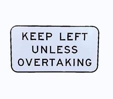 STICKER KEEP LEFT UNLESS OVERTAKING CAR BUMPER STICKER FREE POST STREET SIGN