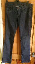 "Benetton Regular Straight leg Jeans 32 ""W 32""Leg Dark indigo blue, UK p&p free"