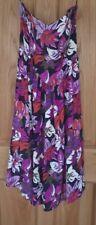 Ladies Peche Floral Vintage Bustier Fit Flare Summer Dress Size 14