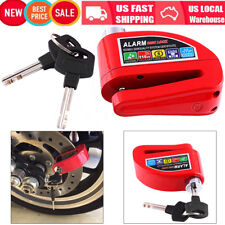 Red Motorcycle Scooter ATV Anti-Theft Disc Brake Wheel Lock With Security Alarm