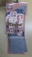 Unisex Long Thick Warm AZTEC Thermal Merino Lamb Wool Socks UK 6-11 COLOURS lot