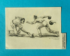 Bowling Bowling Tournament on 60 Lanes  2 Great Artist Cards Germany 1930's
