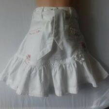 Next stunning girls age 8 white embroidered rahrah skirt with adjustable waist