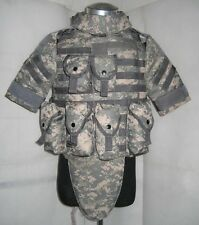New OTV Tactical Vest Body Armor With Pouch/Pad Size LARGE ACU Replica--Airsoft