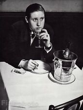 1933/68 Vintage WOMAN DRINKING CHAMPAGNE Smoke Montparnasse France BRASSAI 8x10