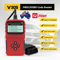 V309 OBD2 / OBDII Diagnostic Car Scanner & Reader Tool Fault Code Erases