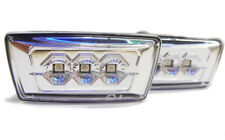 For Vauxhall Zafira B 05-11 Crystal Chrome Clear LED Side Repeaters Opel