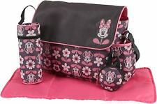 Disney Minnie Mouse Baby Bag Change Mat Set Pink Bottle Nappy Dummy Bag New