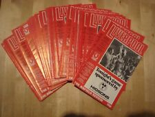 Full set of Liverpool home programmes 1977-78 - 29 programmes in all